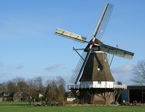 molino que forma parte de la historia de la energía eólica