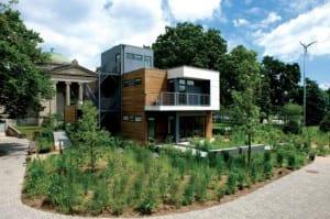 Casas bioclimáticas, jardines húmedos.
