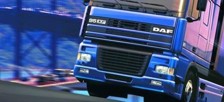 Camión muy azul