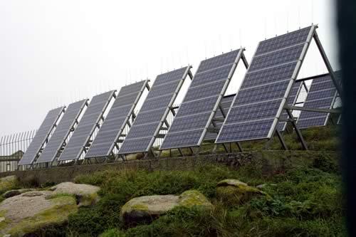 Paneles solares en edificios