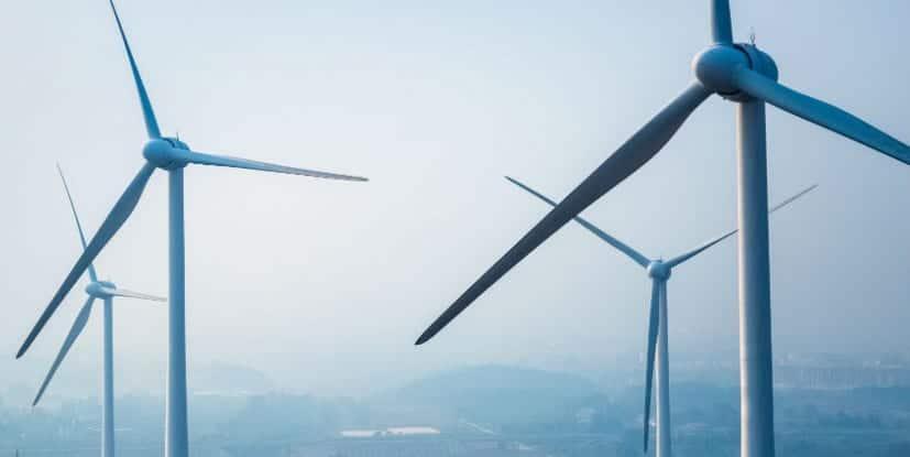 Molinos de viento en China