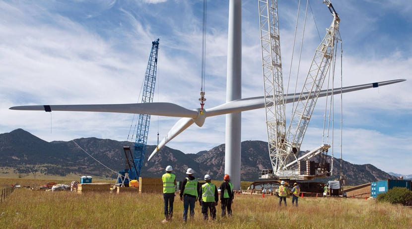 Instalación de un molino de viento