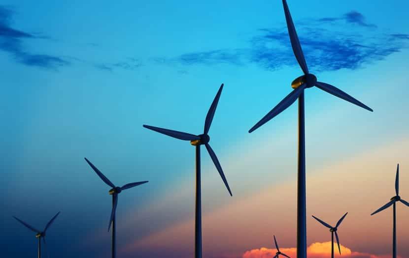 Molinos de viento para generar energía eólica