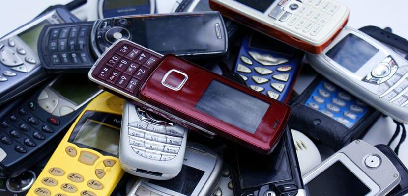 residuos de móviles
