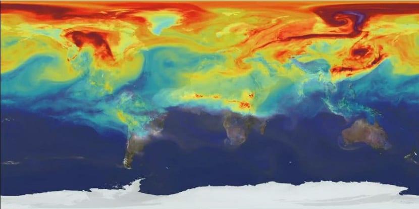 NASA CO2 Tierra
