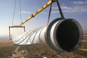 Palas de un aerogenerador