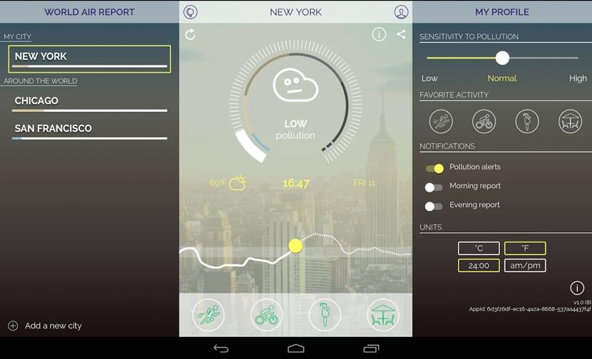App para el mapa de la contaminación