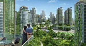Ciudad moderna ecológica