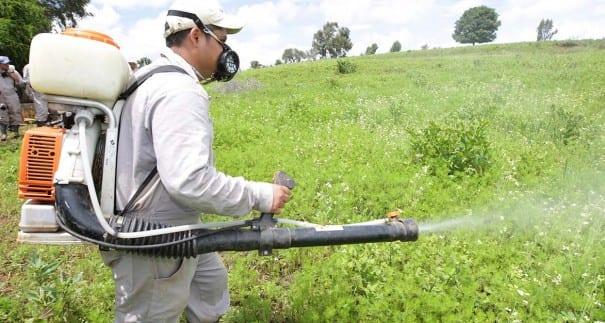 Uso de pesticidas y herbicidas