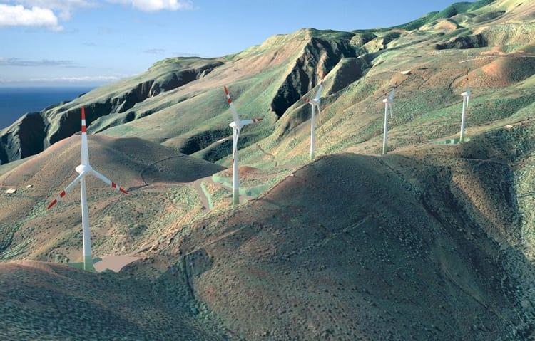 Isla del Hierro. energías renovables
