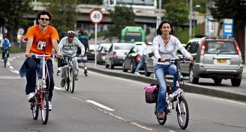 uso de la bicicleta