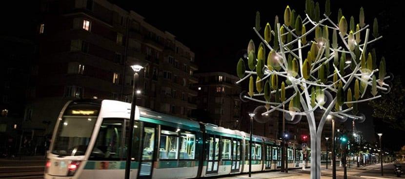 árbol eólico que genera energía renovable