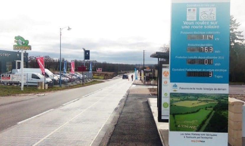 carretera pavimento fotovoltaico Francia