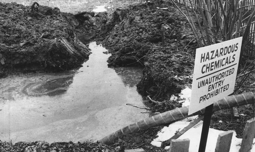 agua contaminada del love canal