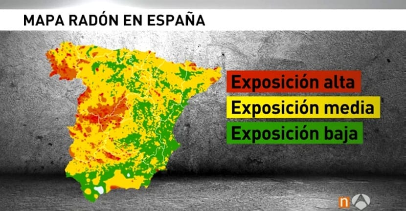 exposición al radón en ESpaña
