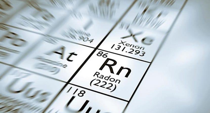 radón gas