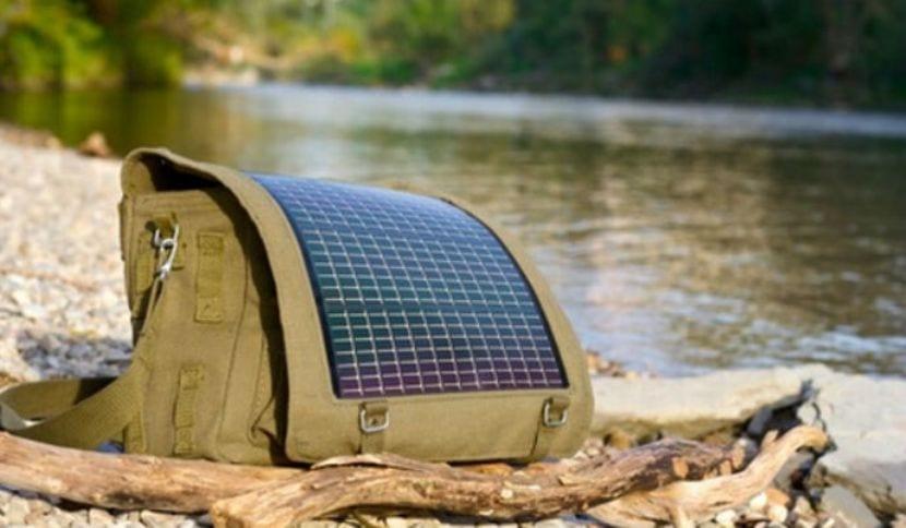 Mochila energía solar