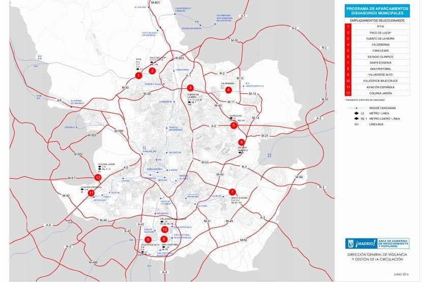 Aparcamientos municipales según el Plan de Calidad del Aire