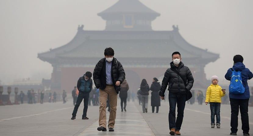 Contaminación atmosférica en China