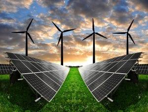 Conjunto de energías renovables