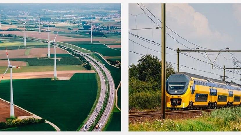 tren eólico