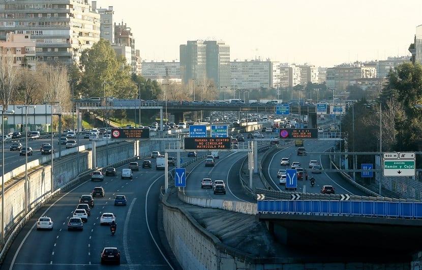 limitacion de velocidad en la M-30 para la reducción de las emisiones contaminantes