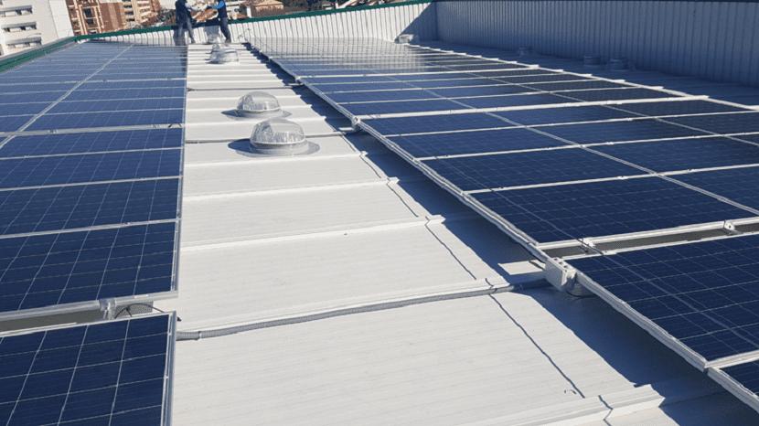 placas solares supermercado