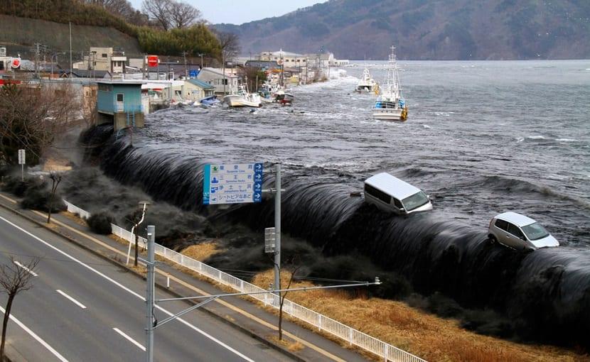 tsunami producido por el terremoto en 2011