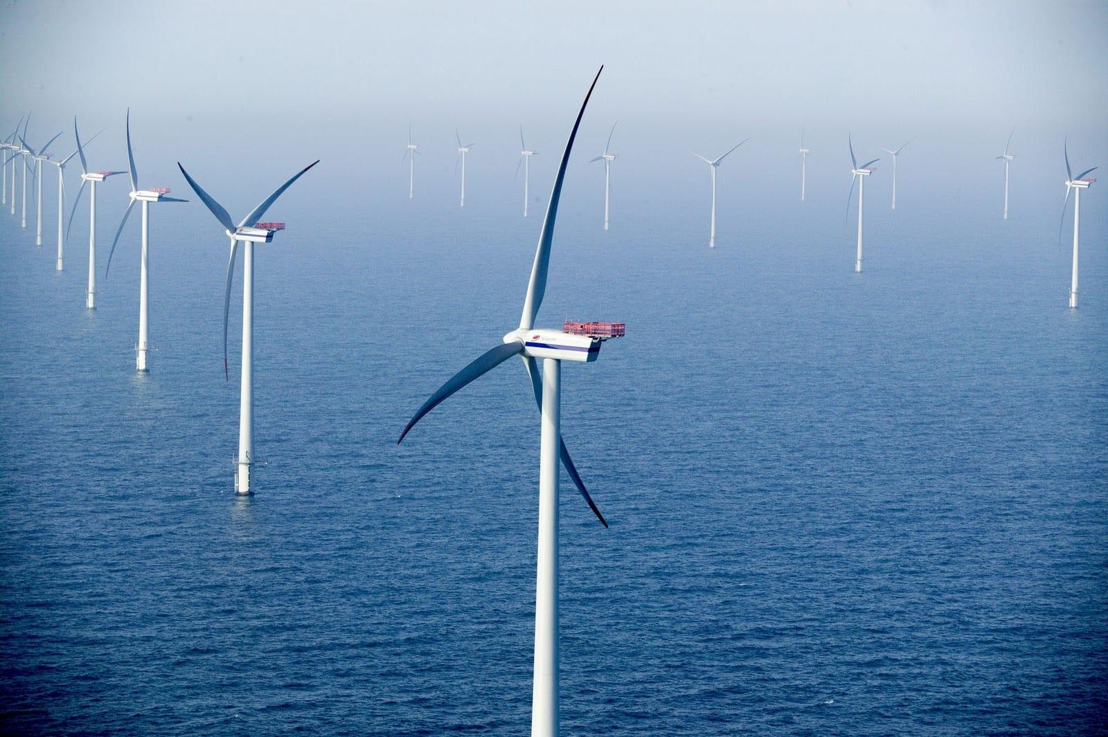 aerogeneradores en el mar