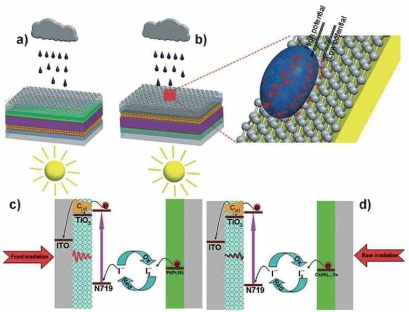 Grafeno en una célula solar