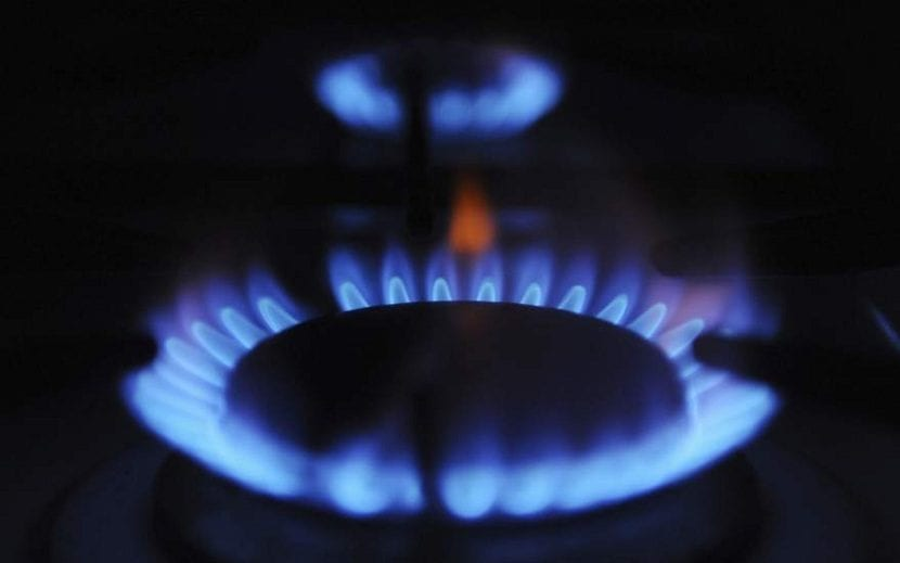 gas natural empleada para la calefacción en los hogares