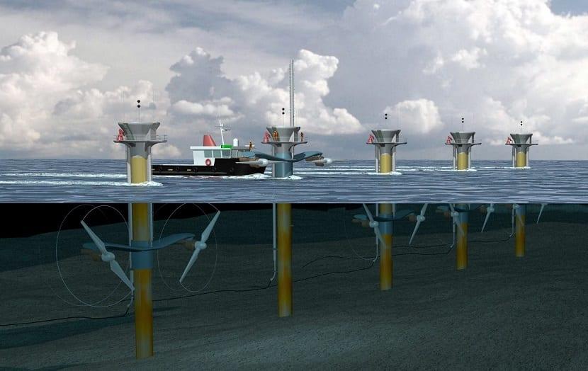 las turbinas mejoradas para la energía mareomotriz