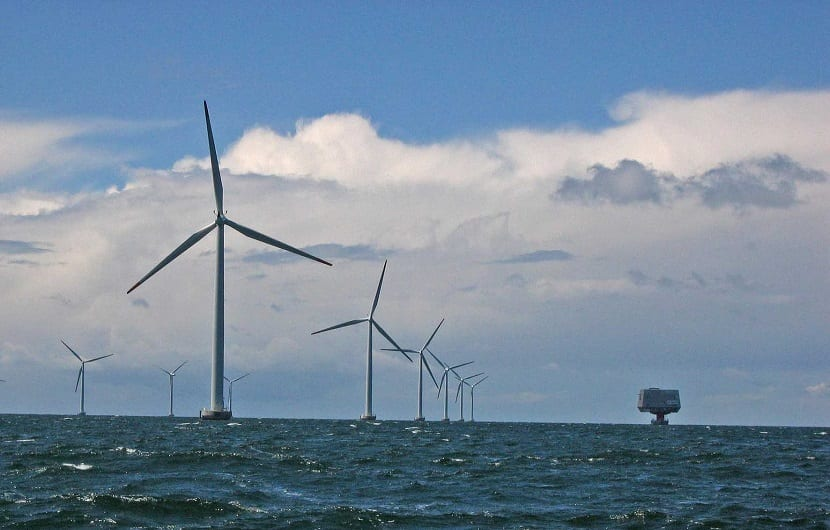 parque eólico marino para la obtención de energía renovable