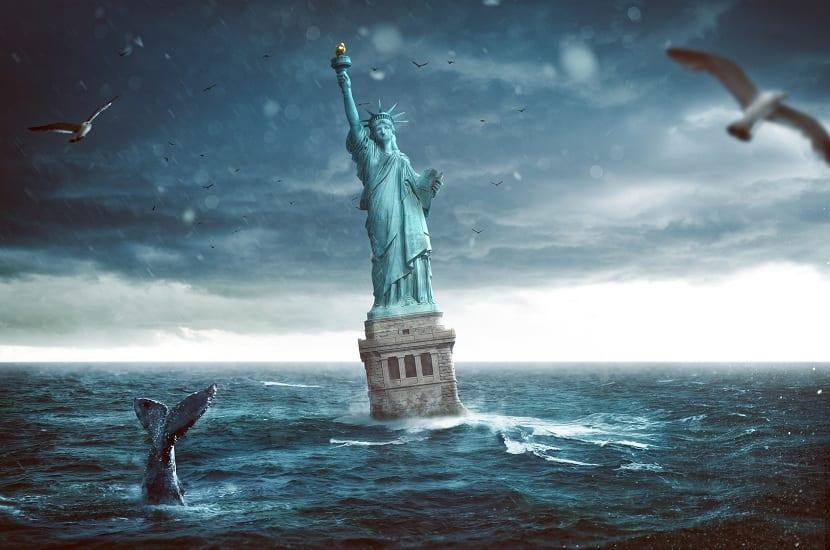 Efectos intergeneracionales del cambio climático como es el aumento del nivel del mar