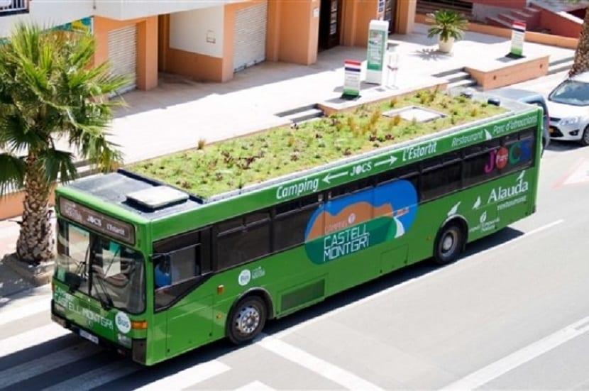 Techo verde en transporte público