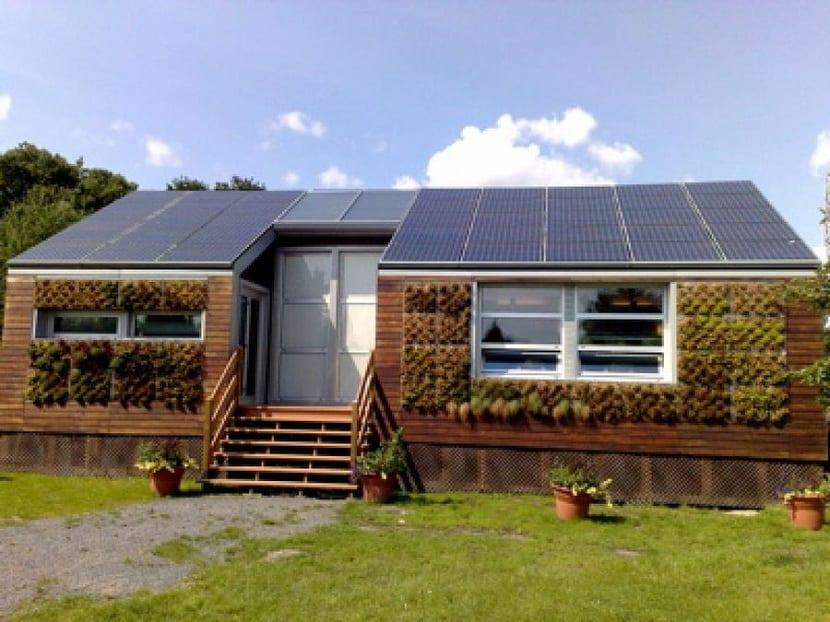 Casa eficiente con energías renovables