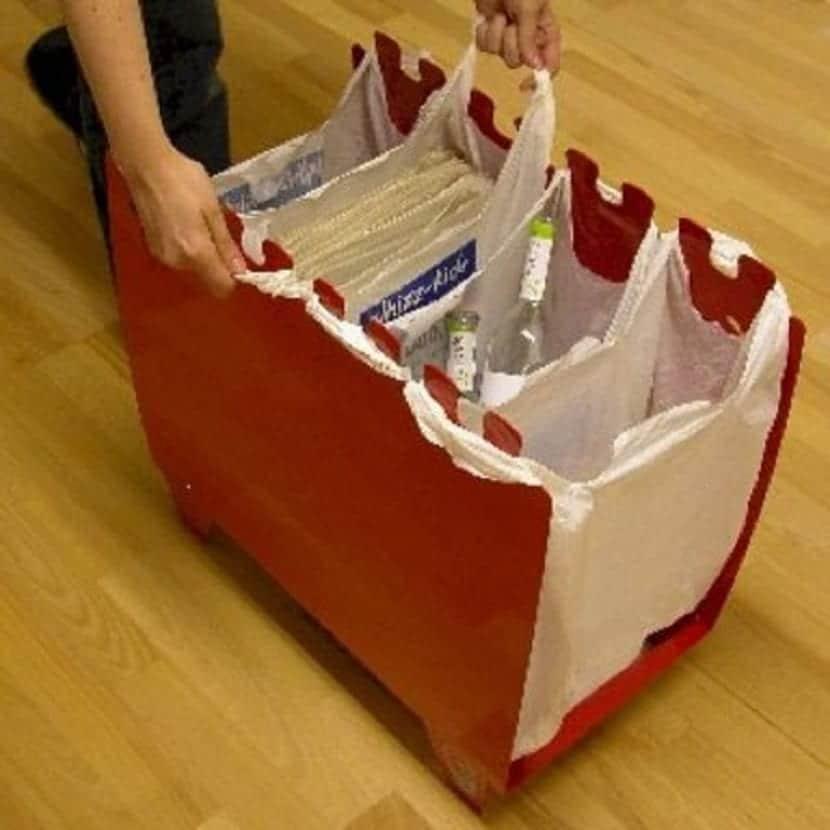 distribuidor casero basura para reciclar