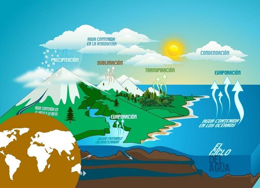resumen sobre las etapas del ciclo del agua