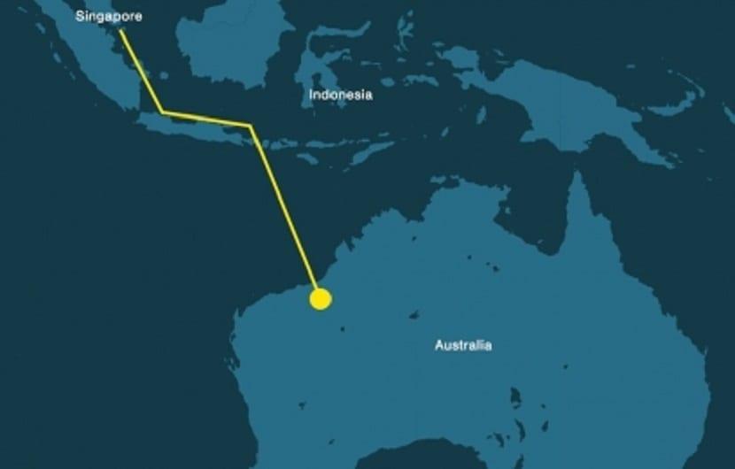 conexión de Indonesia, Singapur y Australia