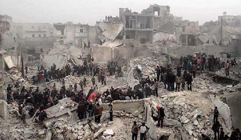 desastre por el hombre en la guerra de Siria