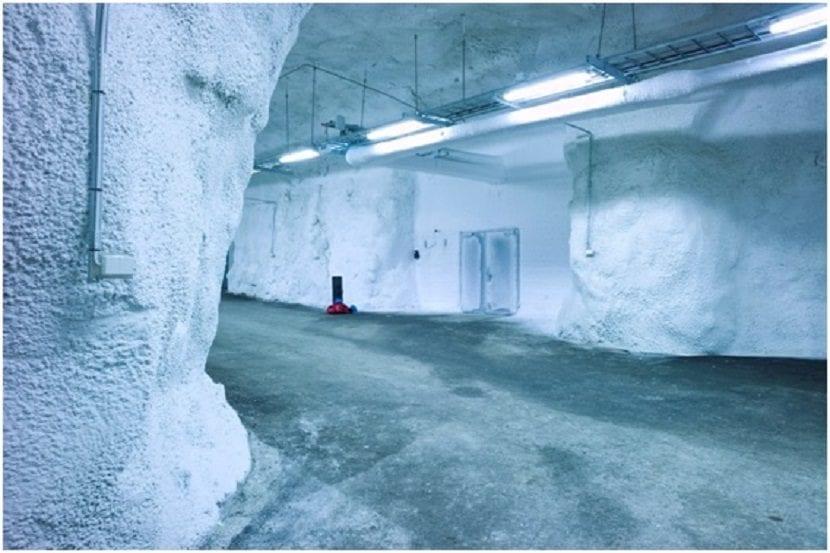 túneles de hielo en la Bóveda