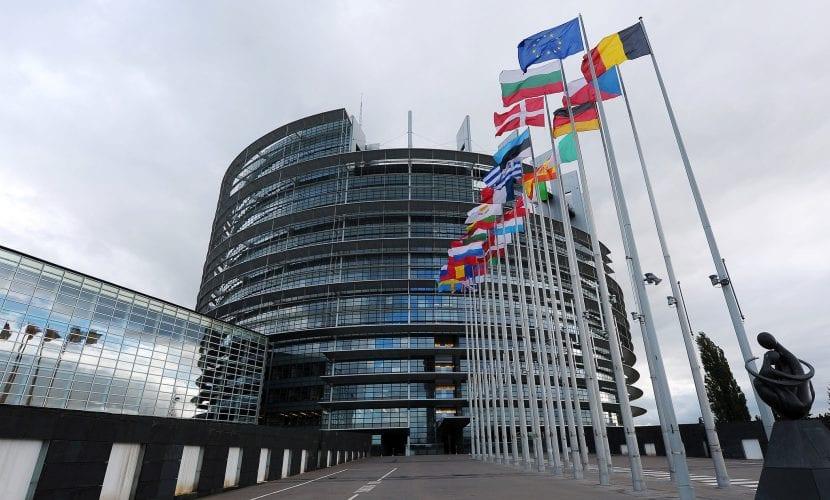 Edificio, exterior del Parlamento Europeo