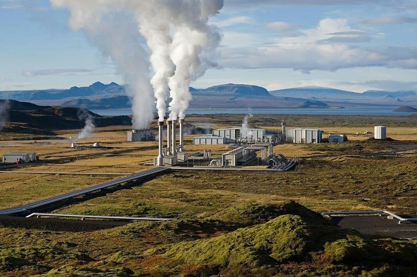 emisiones de gases de una central geotérmica