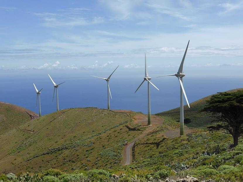 energía eolica en las canarias