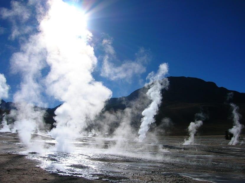 reservorio de energía geotérmica