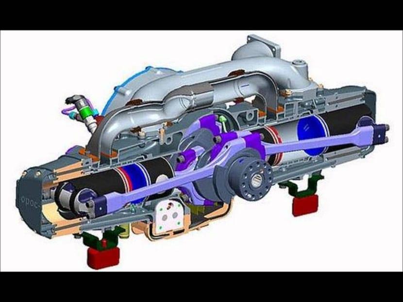Motor de hidrógeno en su interior