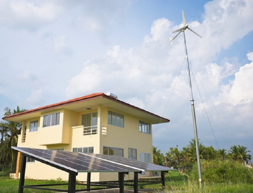 casa con energías renovables