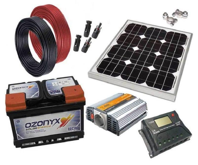 Componentes de un kit solar