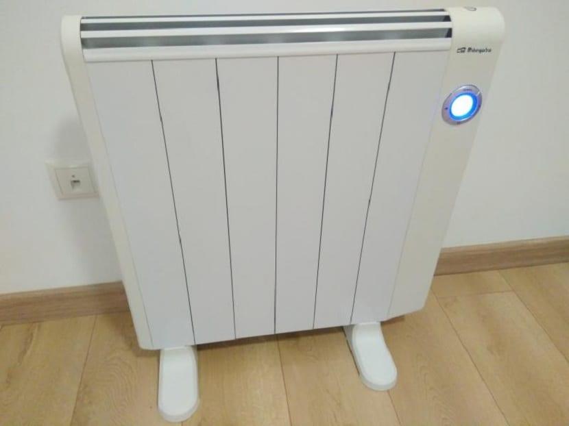 radiadores de calor azul funcionando