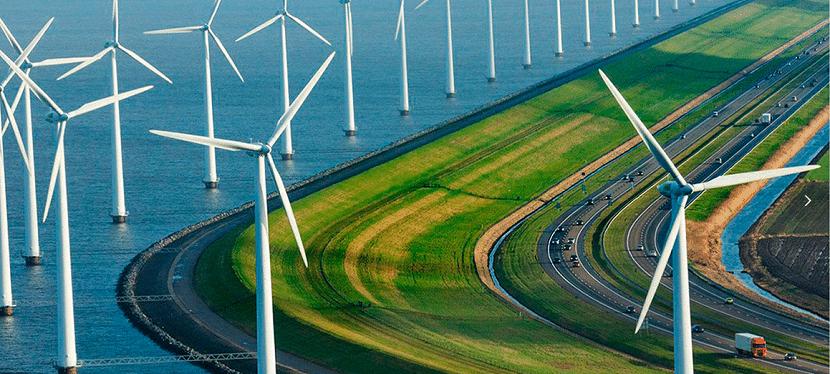 Energía eólica en las carreteras